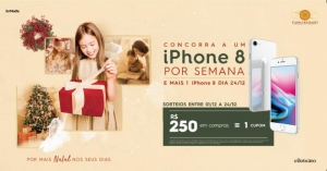Shopping sorteia 1 IPhone 8 por semana